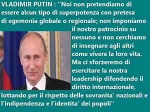 PUTIN DIRITTO INTERNAZIONALE