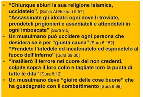 ISLAM UCCIDE L'INFEDELE IN ITALIANO