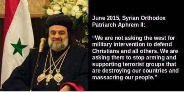 SIRIA PATRIARCA EPHREM II CONTRO I TERRORIST