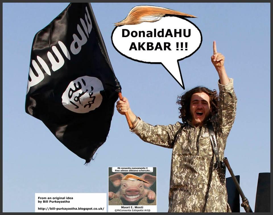 TRUMP LODATO DALL'ISIS