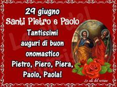 SAN PIETRO PAOLO ONOMASTICO AUGURI