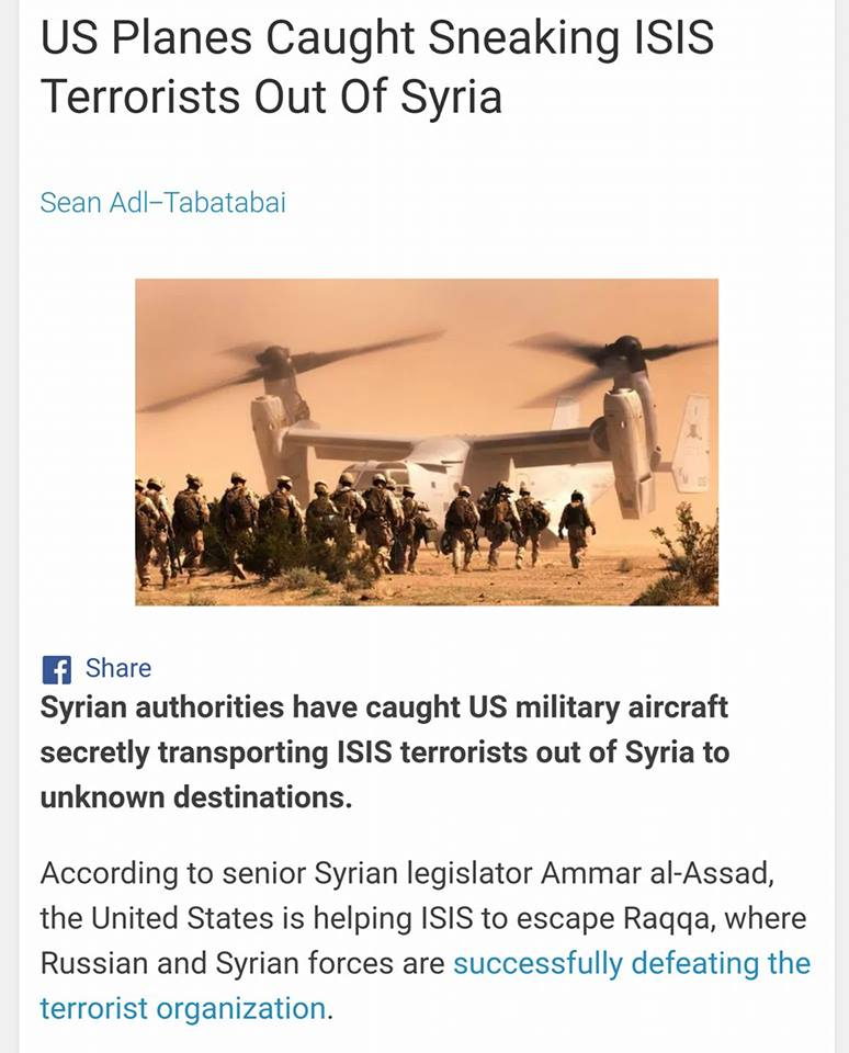ISIS USA LI TRASPORTANO FUORI 4 07 2017